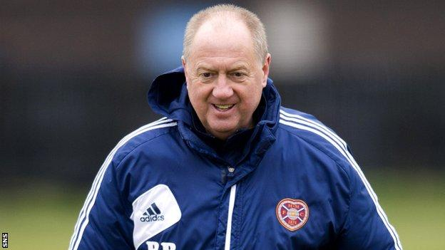 Hearts assistant manager Billy Brown