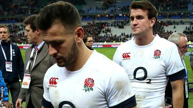 A dejected Danny Care of England
