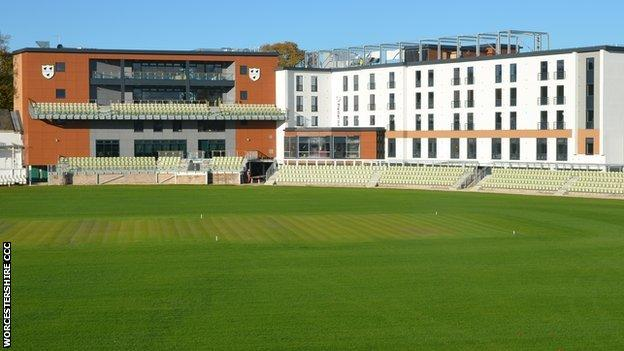 Worcester's newly-opened 'View' redevelopment at the New Road End.