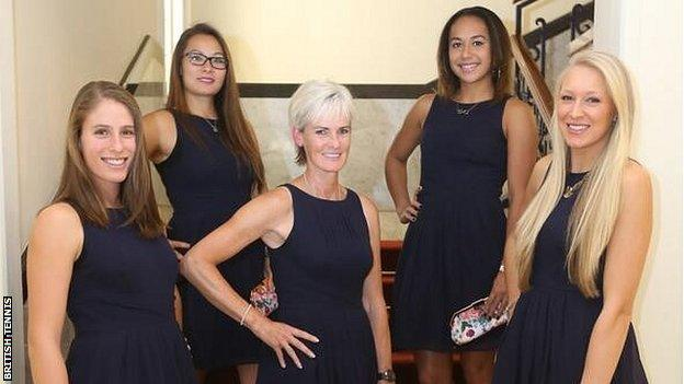 The Great Britain Fed Cup team
