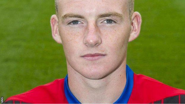 Inverness player Joseph Gorman