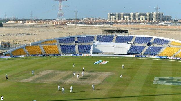 The Sheikh Zayed Stadium in Abu Dhabi