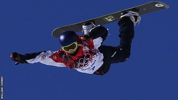 Aimee Fuller in action in Sochi