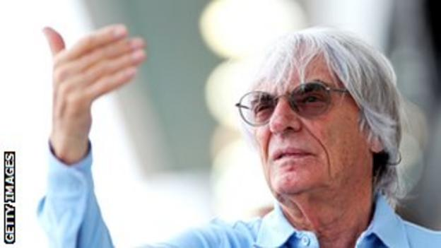 Bernie Ecclestone in the paddock before a grand prix.