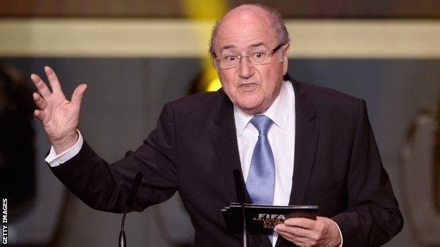 Sepp Blatter at the Balon D'Or