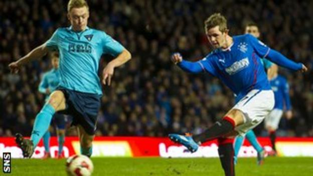 David Templeton scores for Rangers against Dunfermline