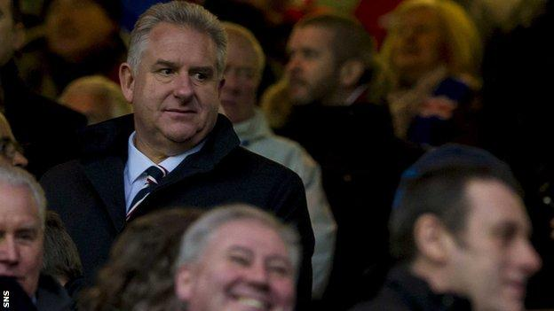 Rangers chief executive Graham Fraser