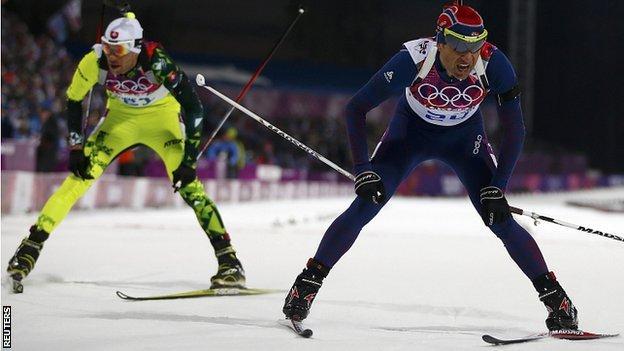 Einar Bjoerndalen (right)