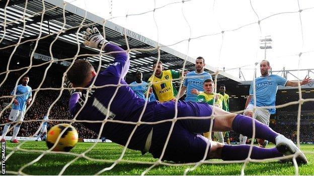 Gary Hooper's goal is disallowed for offside