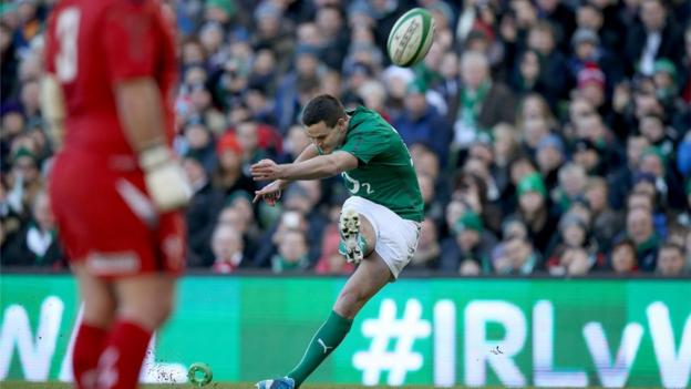 Jonny Sexton kicked four penalties and a conversion in an impressive performance