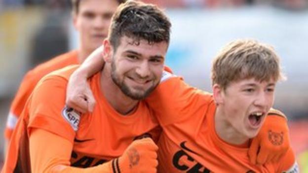 Dundee United players Nadir Ciftci and Ryan Gauld