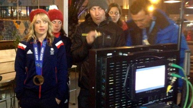 Jenny Jones ready to go on Today at the Games