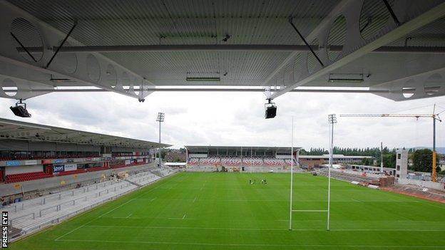The new Ravenhill is nearing completion