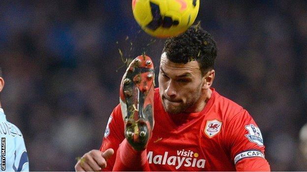 Steven Caulker in action for Cardiff City