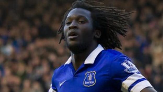Chelsea striker Romelu Lukaku is on loan at Everton