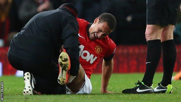 Rio Ferdinand receives treatment