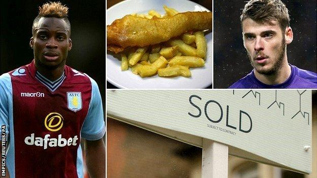 Yacouba Sylla, fish and chips, David De Gea and a 'sold' sign outside a house