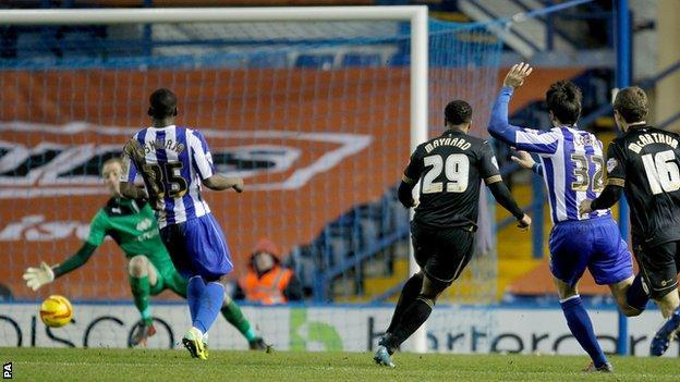 Nicky Maynard scores for Wigan