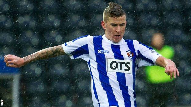Kilmarnock midfielder Craig Slater