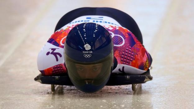 Sochi 2014: Lizzy Yarnold opens with skeleton track record