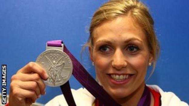 Gemma Gibbons with her judo silver medal from the London 2012 Olympics