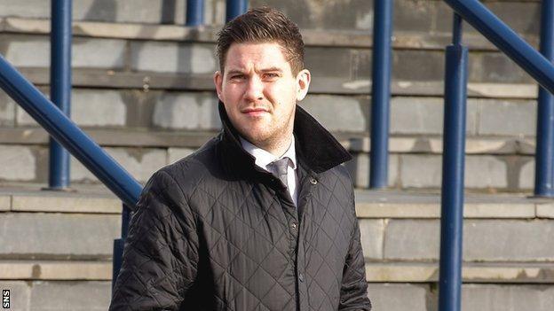 Stenhousemuir striker John Gemmell at Hampden