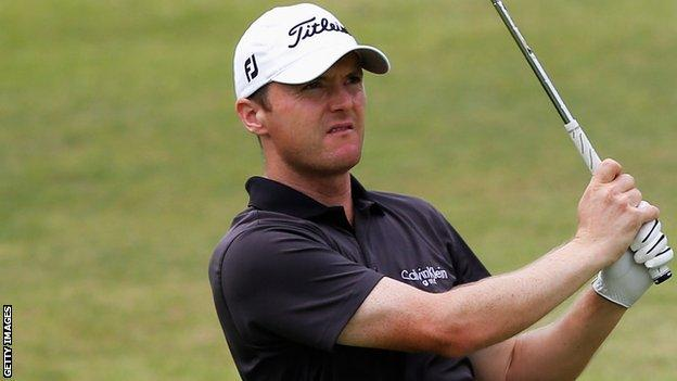 Michael Hoey in action at the Africa Open on Thursday