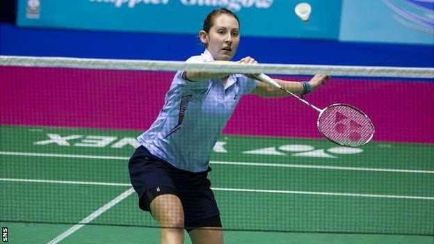 Kirsty Gilmour won her singles and doubles matches against Russia
