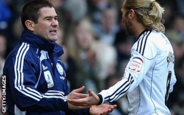 Nigel Clough and Robbie Savage