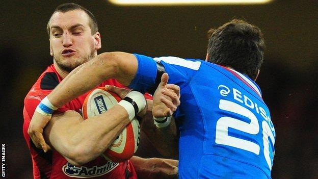 Sam Warburton (left) takes on Italy in February, 2014