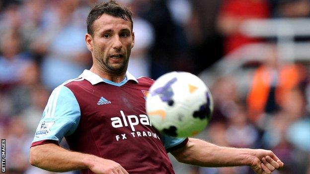 Former West Ham defender Razvan Rat who has joined Rayo Vallecano