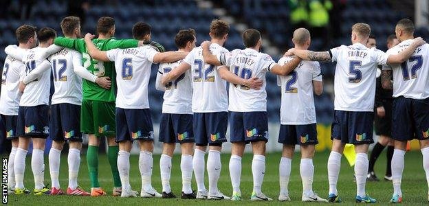Preston North End's players wore shirts with Finney's name printed on the back