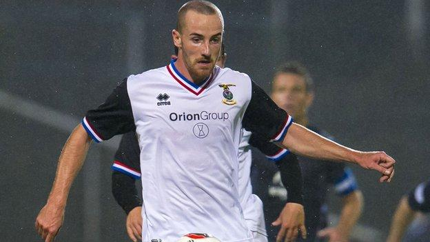 Inverness midfielder James Vincent