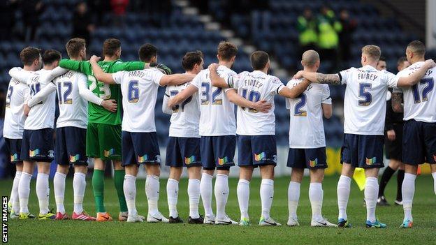 Preston North End players