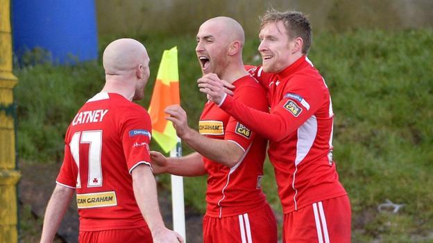 Midfielder Barry Johnston scored Cliftonville's second goal against Crusaders