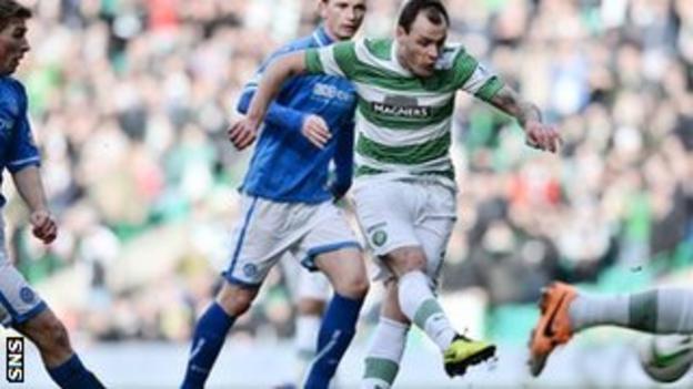 Anthony Stokes scores for Celtic against St Johnstone