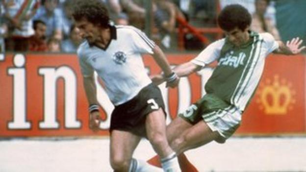 Algeria beat West Germany 2-1 at the 1982 World Cup