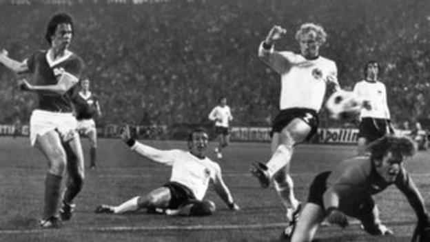East Germany beat West Germany