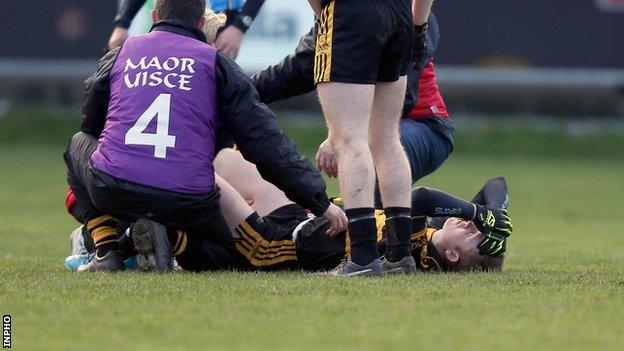 Kerry's Colm Cooper's season is over after suffering a cruciate knee injury
