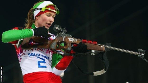 Belarus biathlete Darya Domracheva