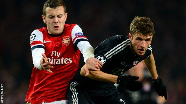 Jack Wilshere and Thomas Muller