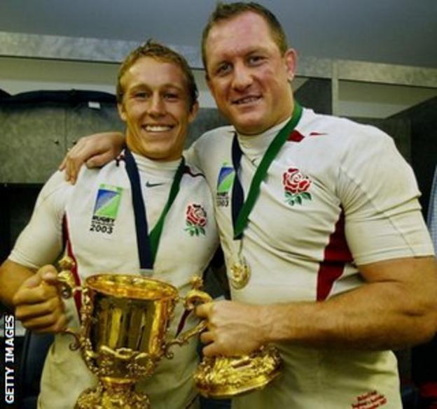 Jonny Wilkinson and Richard Hill