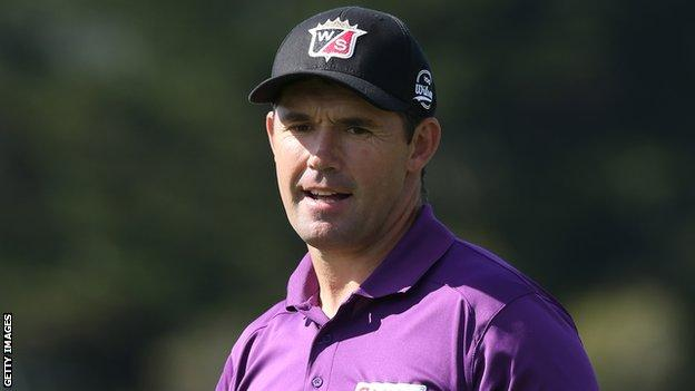 Padraig Harrington in action at the AT&T Pebble Beach National Pro-Am earlier this month
