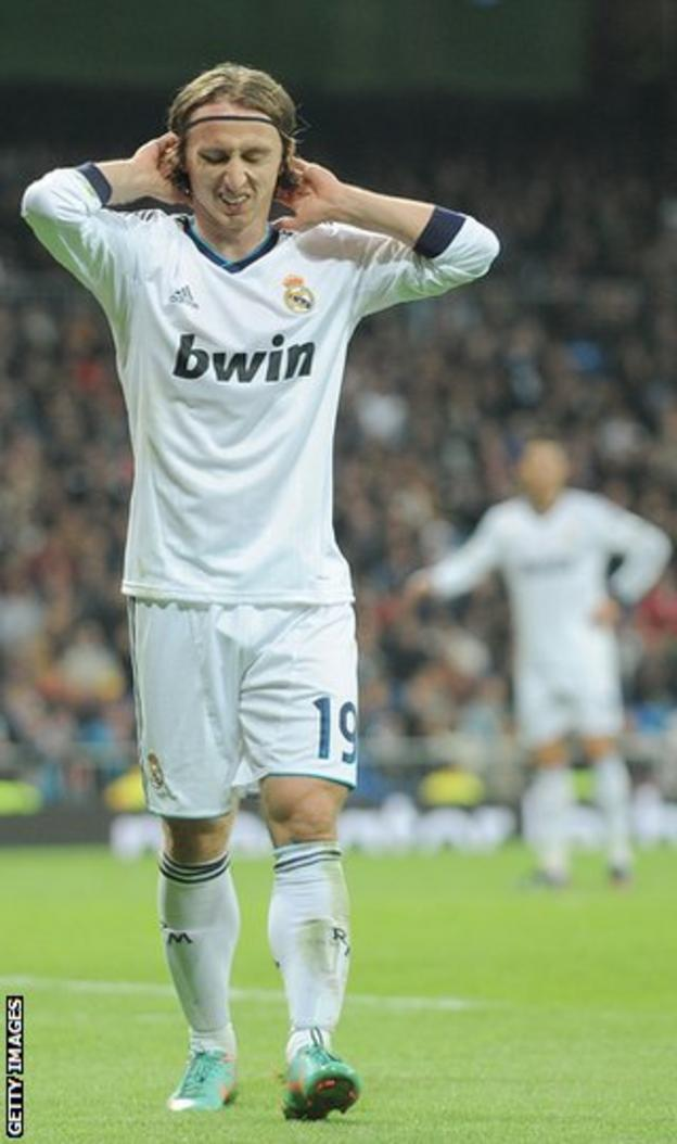 Luka Modric frustrated whilst playing for Real Madrid