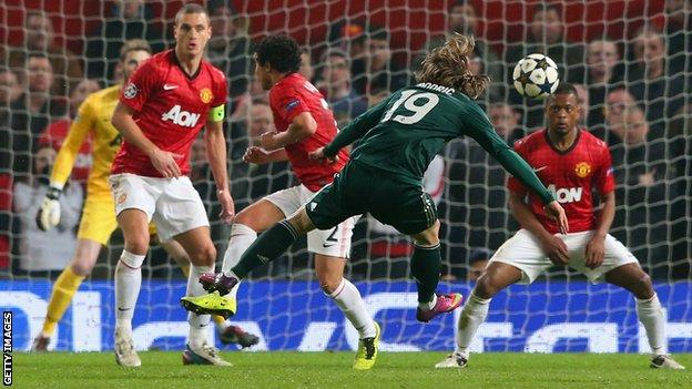 Modric scores against Man Utd in the Champions League
