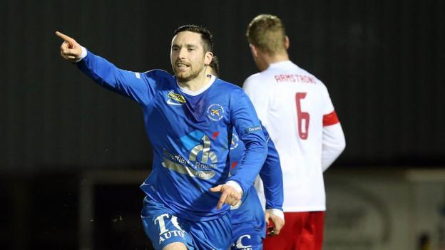 Jason McCartney scored the spot-kick which saw Ballinamallard secure their first league win since 7 December