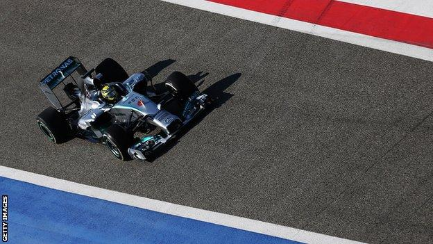 Nico Rosberg of Mercedes non final day of Bahrain test