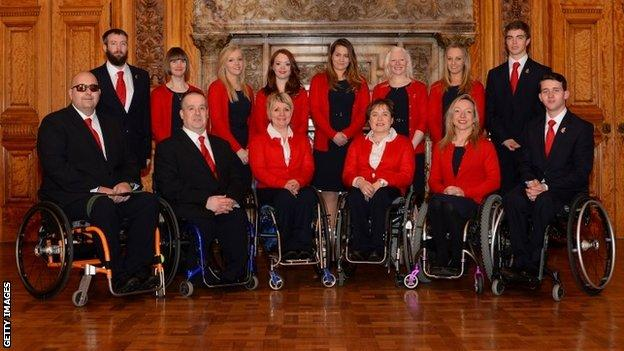 GB team for Sochi Winter Paralympics