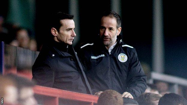 St Mirren boss Danny Lennon was sent to the stand following a clash with Derek Adams