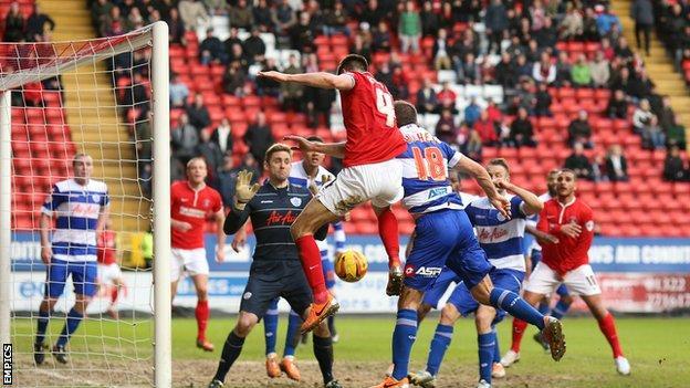 Charlton captain Johnnie Jackson scores the winner against QPR